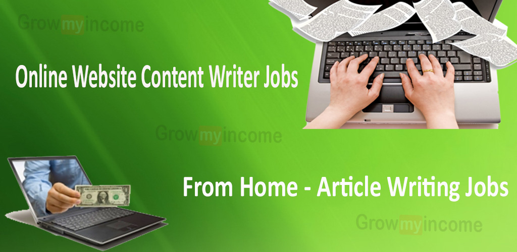 online content writer jobs from home article writing jobs